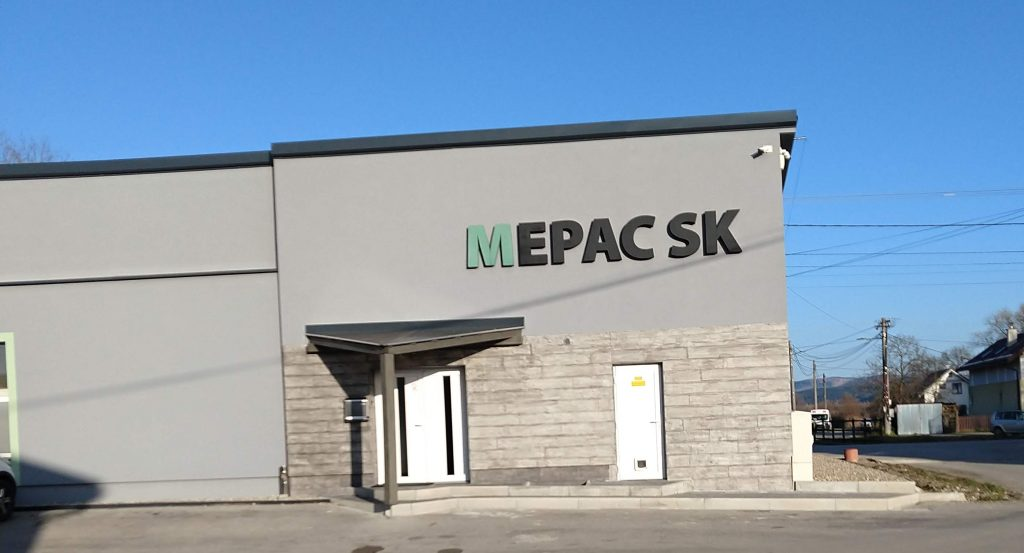 Budova firmy MEPAC SK, s.r.o, Kotešová 161, Kotešová